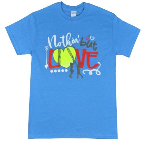 Nothin' But Love Heather Sapphire Softball Shirt