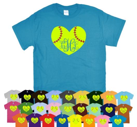 Softball Monogram T-Shirt