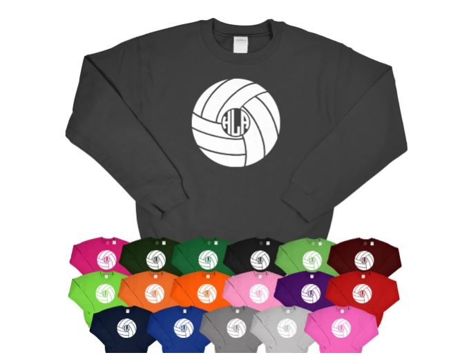Volleyball Monogram Sweatshirt